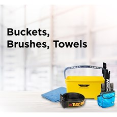 Buckets, Brushes, Towels