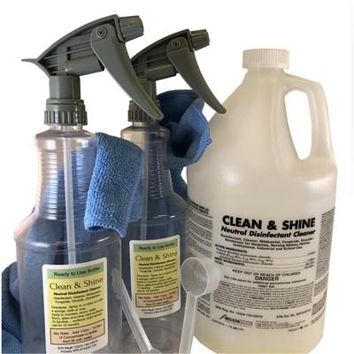 Clean & Shine - 2 Sprayer Disinfectant Kit