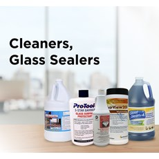 Cleaners, Glass Sealers
