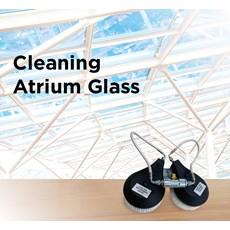 Cleaning Atrium Glass