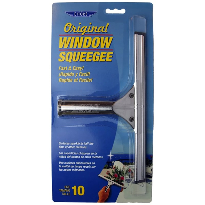 Ettore Classic Squeegees Stainless 10 in