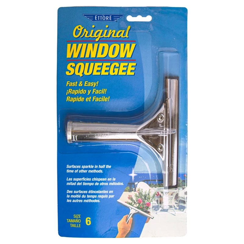 Ettore Classic Squeegees Stainless 6 inch