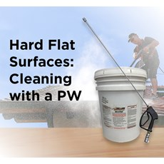 Hard Flat Surfaces: Cleaning with a PW