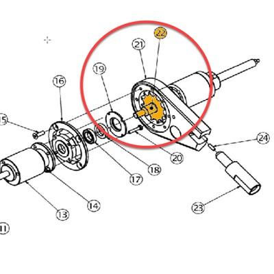 Impeller for 32in (80cm) Rotary Brush