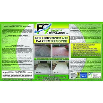 Front9 Restoration F9 Efflorescence/Calcium Remover Image 4