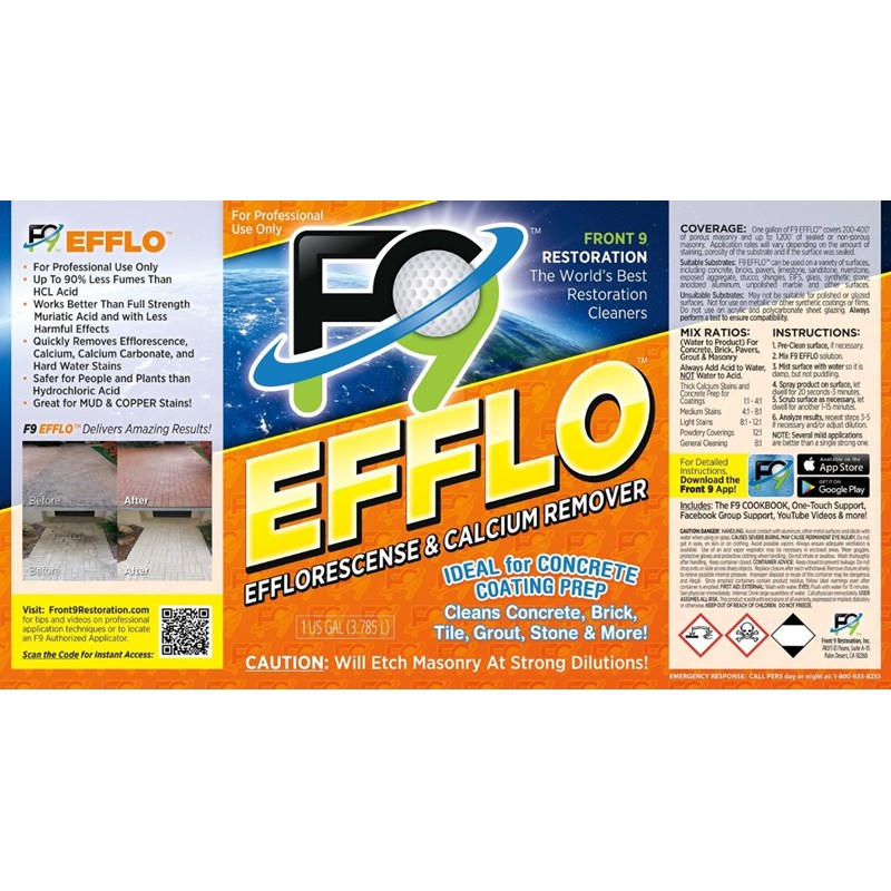Front9 Restoration F9 Efflorescence/Calcium Remover Image 3