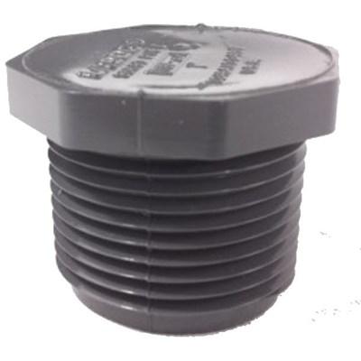 Plug 1/2 Male NPT PVC Sch 80 Image 2
