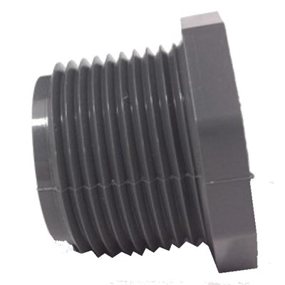 Plug 1/2 Male NPT PVC Sch 80 Image 1