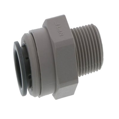 Male Connector 1/2 Pushfit x 3/8 MNPT Image 1