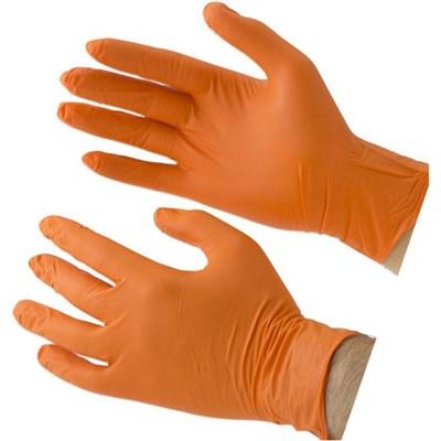Gloves Nitrile 50pair 100ct XL Orange