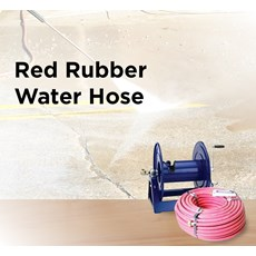Red Rubber Water Hose