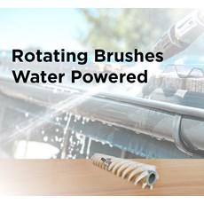 Rotating Brushes Water Powered