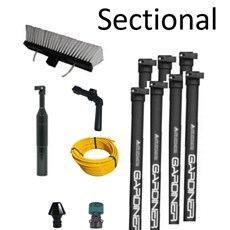 Sectional Water-Fed Poles