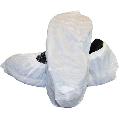 Shoecover w/tread L Polyeth White (100)