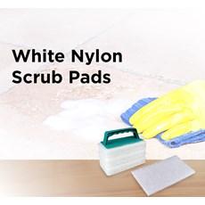 White Nylon Scrub Pads